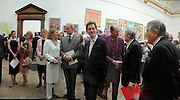 Darcy Bussell, Joanna Lumley, Geraldine James, Charles Dance, Antony Andrews, Robin Wight and David Hockney twice. The Queen's celebration of the Arts. Royal Academy. 16 May 2002. © Copyright Photograph by Dafydd Jones 66 Stockwell Park Rd. London SW9 0DA Tel 020 7733 0108 www.dafjones.com