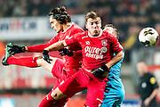 ENSCHEDE - 17-12-2016, FC Twente - AZ, Grolsch Velst Stadion, FC Twente speler Enes Unal, FC Twente speler Dylan Seys, AZ speler Muamer Tankovic