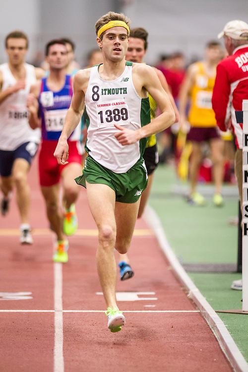 Boston University Terrier Classic indoor track & field meet, Will Geoghegan, Dartmouth, wins mile in 3:35