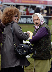 © Licensed to London News Pictures. 11/05/2012. Windsor, UK Queen Elizabeth II attends the The Royal Windsor Horse Show in Windsor, England on May 11 2012. Photo credit : Stephen Simpson/LNP