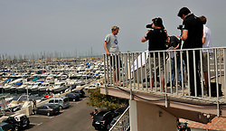 Ian Williams from GAC Pindar team is interviewed by the World Match Racing Team TV programme.