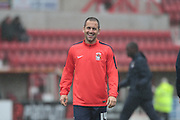 Coventry City midfielder Joe Cole warms up before the Sky Bet League 1 match between Swindon Town and Coventry City at the County Ground, Swindon, England on 24 October 2015. Photo by Jemma Phillips.