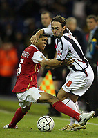 Photo: Rich Eaton.<br /> <br /> West Bromwich Albion v Arsenal. Carling Cup. 24/10/2006. Jonathan Greening right of West Bromis tackled by Arsenals Denilson