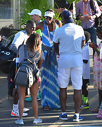 March 21, 2018 - Key Biscayne, Florida, United States Of America - KEY BISCAYNE, FL - MARCH 21: Naomi Osaka of Japan defeats Serena Williams of the United States during the Miami Open Presented by Itau at Crandon Park Tennis Center on March 21, 2018 in Key Biscayne, Florida. ...People:  Guest. (Credit Image: © SMG via ZUMA Wire)