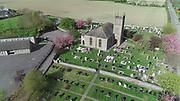 Knockbridge, County, Louth, Aerial photo, Church, village, countryside, aerial photos