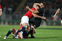 Rugby Union - 2017 British & Irish Lions Tour of New Zealand - First Test: New Zealand vs. British & Irish Lions<br /> <br /> Anton Lienert-Brown of The All Blacks and Ben Te'o of The British and Irish Lions at Eden Park, Auckland.<br /> <br /> COLORSPORT/LYNNE CAMERON