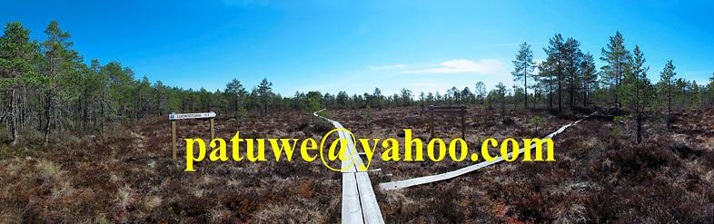 Sign of Finland Puurijärvi-Isosuo Kansallispuisto Marshland Moorland National park. Scandinavia