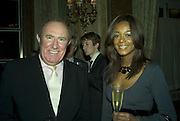 ANDREW NEIL AND PHOEBE VELA, The Tatler Travel Awards 2008. The Ritz, Piccadilly. London. 3 December 2007. -DO NOT ARCHIVE-© Copyright Photograph by Dafydd Jones. 248 Clapham Rd. London SW9 0PZ. Tel 0207 820 0771. www.dafjones.com.