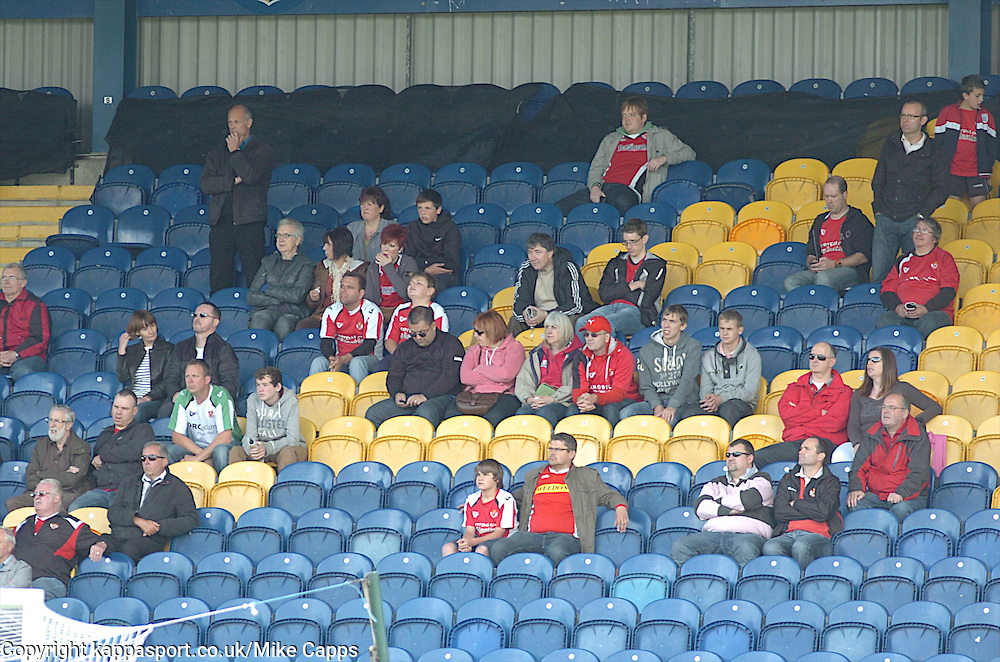 KETTERING TOWN FANS AT MANSFIELD TOWN, Mansfield Town v Kettering Town, Blue Square Premier Field Mill, Saturday 27th August 2011