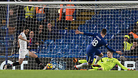 Football - 2017 / 2018 Premier League - Chelsea vs Crystal Palace<br /> <br /> With only the goalkeeper Wayne Hennessey (Crystal Palace) to beat Oliver Giroud (Chelsea FC)  misses his chance at Stamford Bridge <br /> <br /> COLORSPORT/DANIEL BEARHAM
