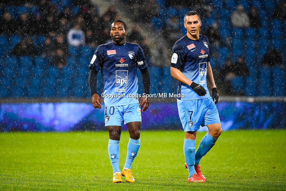 Geoffrey MALFLEURY / Jean Pascal FONTAINE  - 12.12.2014 - Le Havre / Laval - 17eme journee de Ligue 2 <br /> Photo : Fred Porcu / Icon Sport