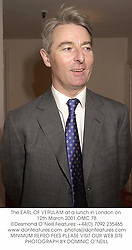 The EARL OF VERULAM at a lunch in London on 12th March 2001.	OMC 78