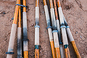 Oars used to paddle rafts on the San Juan River in Utah.