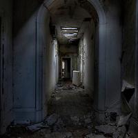 Corridors in Laybourne Grange Mental Asylum