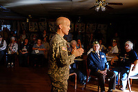 """Veterans and their families gathered on Sunday, October 18th at Seaside's American Legion Post 591 for a somber ceremony marking the arrival of """"Remembering Our Fallen,"""" a traveling exhibit of photographs and memories honoring over 700 fallen California veterans."""