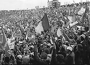 Crowds at the All Ireland Football Final Dublin v Armagh at Croke Park, 25th September 1977.