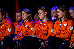 02-01-2018 NED: PloegpresentatieTeamNL, Arnhem<br /> Het Olympisch Team tijdens de teamoverdracht van Olympic en Paralympic TeamNL voor de Olympische Spelen van Pyeongchang / Ireen Wust, Jorien Ter Mors