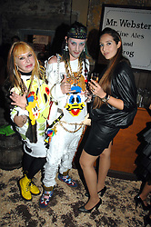 Left to right, MRS LOUISE MAZZILLI, MR ROCKY MAZZILLI  and MISS TATUM MAZZILLI  at the Stephen Webster launch party of his latest jewellery collection during the London Jewellery Week, at Wilton's Music Hall, Graces Alley, Off Ensign Street, London E1 on 12th June 2008.<br />