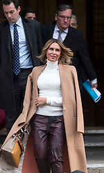 © Licensed to London News Pictures. 01/02/2018. London, UK. Tatiana Akhmedova  leaves the High Court in London. Ms Akhmedova is in court as her ex husband, Russian billionaire Farkhad Akhmedov,  seeks to reduce the record divorce settlement of £453m granted to her in 2016. The 2016 ruling was one of the largest awards ever made by a British court. Photo credit: Ben Cawthra/LNP