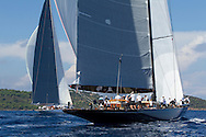 FRANCE, St Tropez. 1st October. Voiles de St Tropez. J Class, Race 3.