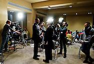 Roma 26 Febbraio 2013.Il MoVimento 5 Stelle presenta alla stampa  alcuni candidati  per il consiglio regionale del Lazio..Davide Barillari candidato a presidente della Regione Lazio...