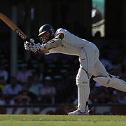South African batsman Hashim Amla in action during day four of the third test match between Australia and South Africa at the Sydney Cricket Ground on January 6, 2009 in Sydney, Australia. Photo Tim Clayton