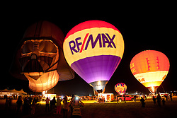 """The Glow Show 1"" - Photographs of hot air balloons lit up durning the Glow Show  at the 2011 Great Reno Balloon Race."