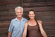 Sarahlee Lawrence and her dad, David, of Rainshadow Organics Farm
