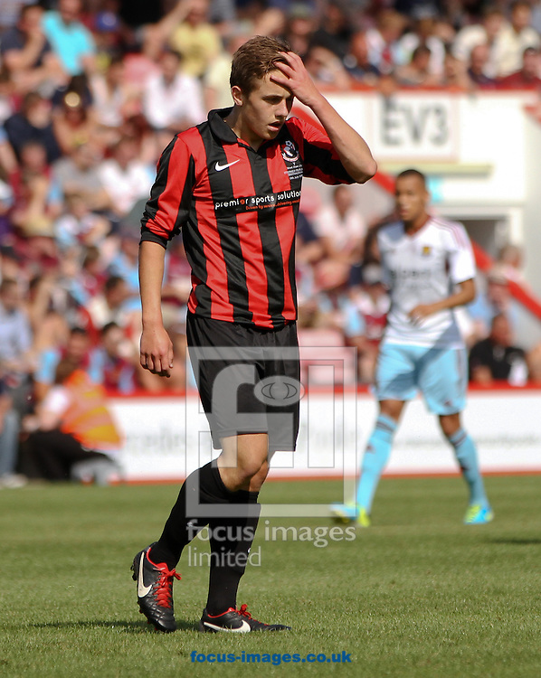 Picture by Tom Smith/Focus Images Ltd 07545141164<br /> 13/07/2013<br /> Sam Matthews of Bournemouth during the Stephen Purches testimonial pre season friendly match at the Seward Stadium, Bournemouth.
