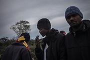 Sudanees migrants at the Jungle Camp