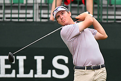 May 3, 2019 - Charlotte, NC, U.S. - CHARLOTTE, NC - MAY 03: Joel Dahmen plays his shot from the tenth tee in round two of the Wells Fargo Championship on March 03, 2019 at Quail Hollow Club in Charlotte,NC. (Photo by Dannie Walls/Icon Sportswire) (Credit Image: © Dannie Walls/Icon SMI via ZUMA Press)