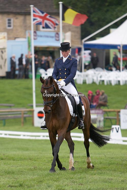 Elaine Pen (Netherlands) riding Dostowjeski<br /> Equi-Trek Bramham International Horse Trials  CIC*** Dressage