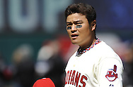 CLEVELAND, OH USA - APRIL 5: Cleveland's Shin-Soo Choo before the game between the Cleveland Indians and Toronto Blue Jays at Progressive Field in Cleveland, OH, USA on Thursday, April 5, 2012.