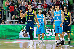 Edo Muric of Slovenia celebrates during basketball match between National teams of Slovenia and Ukraine in Round #12 of FIBA Basketball World Cup 2019 European Qualifiers, on February 25, 2019 in Arena Stozice, Ljubljana, Slovenia. Photo by Matic Klansek Velej / Sportida