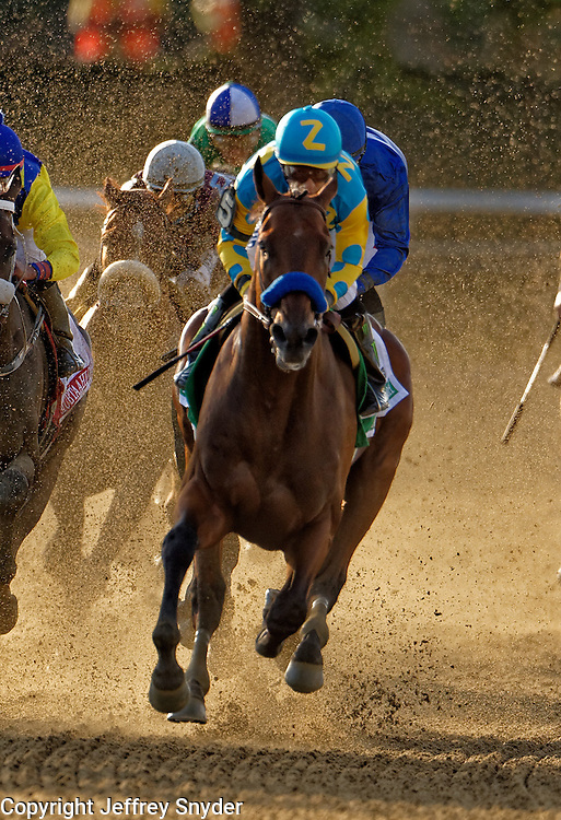 American Pharoah with jockey Victor Espinoza wins the 147th Belmont Stakes, and captures the Triple Crown
