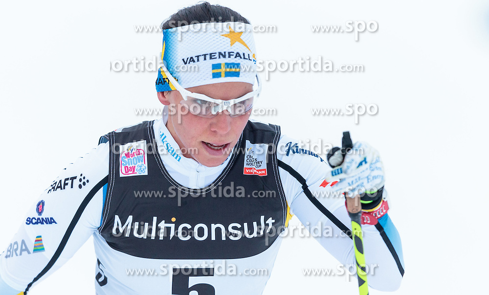 05.12.2015, Nordic Arena, NOR, FIS Weltcup Langlauf, Lillehammer, Damen, im Bild Charlotte Kalla (SWE) // Charlotte Kalla of Sweden during Ladies Cross Country Competition of FIS Cross Country World Cup at the Nordic Arena, Lillehammer, Norway on 2015/12/05. EXPA Pictures © 2015, PhotoCredit: EXPA/ JFK