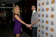 NICOLA MCLEAN; TOM WILLIAMS, Walkers' Do Us A Flavour - launch party , The 6 finalists of their campaign to find new crisp flavours announced. Flavours include' Chili and chocolate, fish and chips, Onion bhaji, crispy duck, cajun squirrel and builder's breakfast. . Paramount, Centre Point, London. 8 January 2009 *** Local Caption *** -DO NOT ARCHIVE -Copyright Photograph by Dafydd Jones. 248 Clapham Rd. London SW9 0PZ. Tel 0207 820 0771. www.dafjones.com<br /> NICOLA MCLEAN; TOM WILLIAMS, Walkers' Do Us A Flavour - launch party , The 6 finalists of their campaign to find new crisp flavours announced. Flavours include' Chili and chocolate, fish and chips, Onion bhaji, crispy duck, cajun squirrel and builder's breakfast. . Paramount, Centre Point, London. 8 January 2009