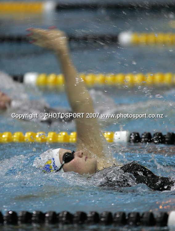 Jessie Blundell. New Zealand Swimming Spring Competition. Wellington Regional Aquatic Centre, Wellington, New Zealand. Tuesday 25 September 2007. Photo: Hagen Hopkins/PHOTOSPORT