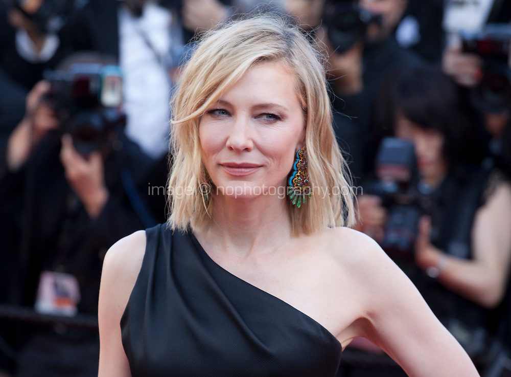 Jury president Cate Blanchett at the Girls Of The Sun (Les Filles Du Soleil) gala screening at the 71st Cannes Film Festival, Saturday 12th May 2018, Cannes, France. Photo credit: Doreen Kennedy