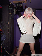 A Mod / Indie girl wearing retro, vintage clothes, The Junk Club, Southend, UK 2006