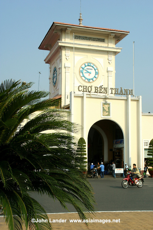 Ben Thanh Market is one of the earliest surviving structures in Saigon and today is considered one of symbols of Ho Chi Minh City.  It's popular with tourists seeking local handicrafts, textiles, ao dai, and souvenirs as well as local cuisine.