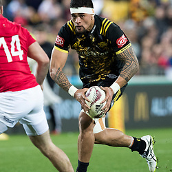 Vaea Fifita during game 8 of the British and Irish Lions 2017 Tour of New Zealand,The match between  Hurricanes and British and Irish Lions, Westpac Stadium, Wellington, Tuesday 27th June 2017<br /> (Photo by Kevin Booth Steve Haag Sports)<br /> <br /> Images for social media must have consent from Steve Haag