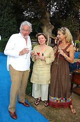 Left to right, HUGH HUDSON, IMELDA STAUNTON and MARYAM D'ABO at a party to celebrate FilmFour becoming the UK's first major free film channel held at Debenham House, Addison Road, London on 20th July 2006.<br />