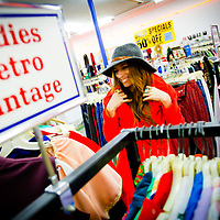 SARASOTA, FL -- December 27, 2011 -- Singer Kendra Morris shops for clothes at the massive Thrift City U.S.A. in St. Petersburg, Fla., on Wednesday, February 28, 2011.  Morris has a   (PHOTO / CHIP LITHERLAND)