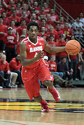 22 January 2014:  Paris Lee during an NCAA Missouri Valley Conference mens basketball game between the Shockers of Wichita Stat and the Illinois State Redbirds  in Redbird Arena, Normal IL.