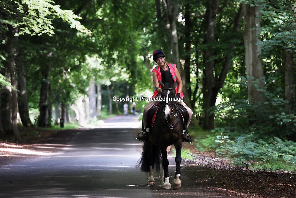 Horse ridingTentsmuir forest Fife. 2015.Photograph David Cheskin