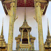 Dusit Maha Prasat Throne at Grand Palace in Bangkok, Thailand  <br />