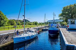 Vessels negotiating the locks on the Caledonian Canal at Dochgarroch, near Inverness<br /> <br /> (c) Andrew Wilson | Edinburgh Elite media