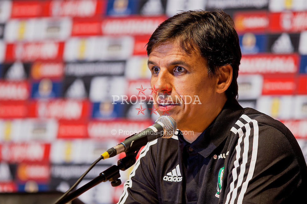 DINARD, FRANCE - Monday, June 27, 2016: Wales manager Chris Coleman during a press conference at their base in Dinard as they prepare for the Quarter-Final match against Belgium during the UEFA Euro 2016 Championship. (Pic by Paul Greenwood/Propaganda)