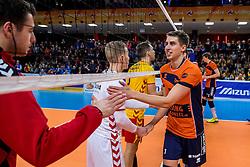 19-02-2017 NED: Bekerfinale Draisma Dynamo - Seesing Personeel Orion, Zwolle<br /> In een uitverkochte Landstede Topsporthal wint Orion met 3-1 de bekerfinale van Dynamo / Pim Kamps #7 of Orion